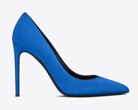 YSL Stiletto Blue Heels